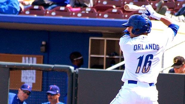 Paulo Orlando beisebol Omaha Storm Chasers  (Foto: Divulgação / Arquivo Pessoal)
