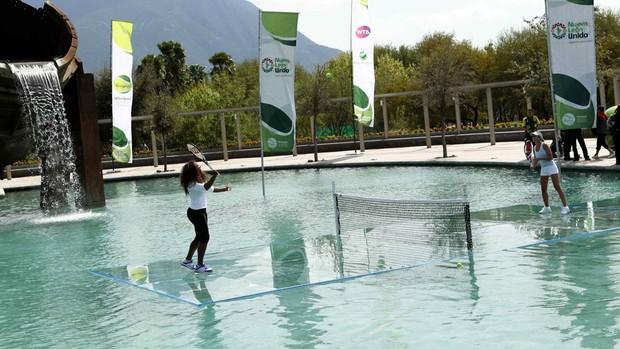 Tênis serena williams gisela dulko jogo exibição monterrey méxico  (Foto: JORGE MARTINEZ / MEXSPORT / AFP)