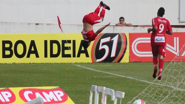 Felipe comemora gol pelo Mogi Mirim (Foto: Rafael Bertanha/ Divulgação Mogi Mirim)