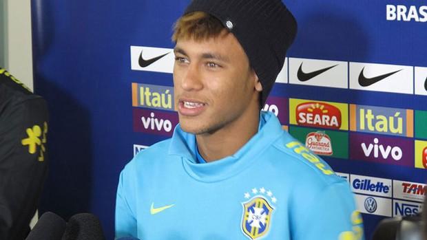neymar seleção brasileira coletiva (Foto: Marcio Iannacca/Globoesporte.com)