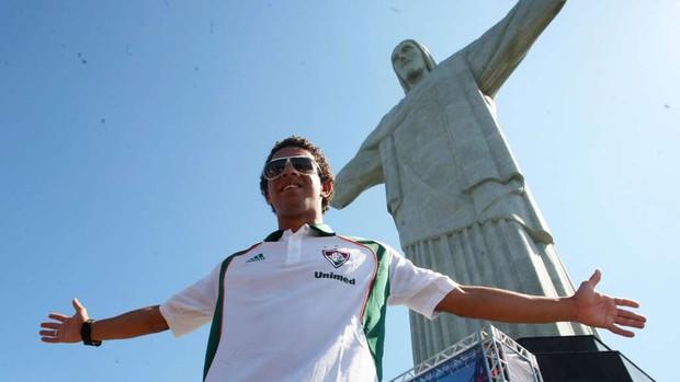 Wellington Nem Fluminense cristo redentor (Foto: Guilherme Pinto /  Globo)