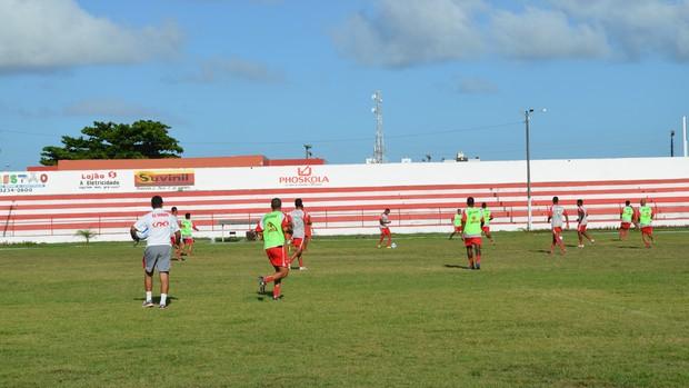 Sergipe se prepara para enfrentar o Socorrense (Foto: Felipe Martins/GLOBOESPORTE.COM)