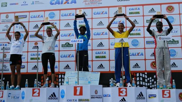 Meia Maratona SP 2012 Podio Feminino (Foto: Alexander Grünwald/ GLOBOESPORTE.COM)