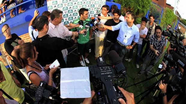 deco fluminense treino argentina (Foto: Nelson Perez / Fluminense F.C.)