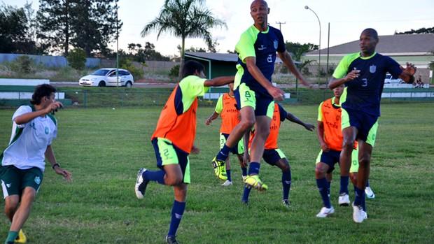 Treino do Gama, Copa do Brasil 2012, Ceará (Foto: Divulgação/Gama-DF)