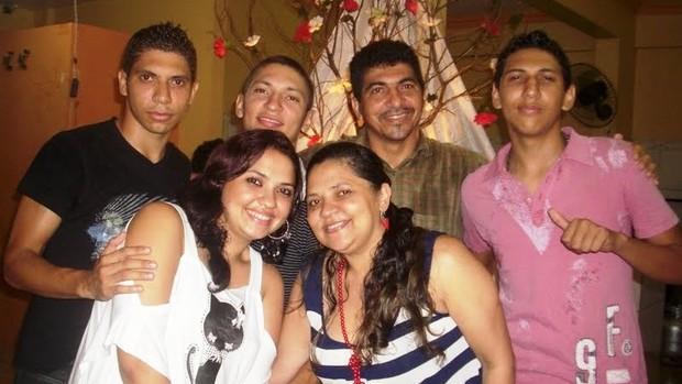 nildo pereira são raimundo copa do brasil grêmio família (Foto: Arquivo Pessoal)