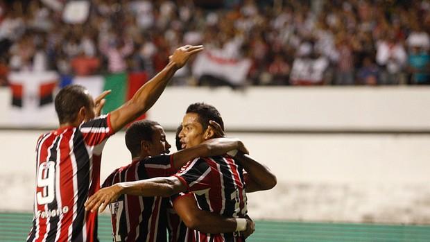 comemoração São Paulo (Foto: Tarso Sarraf / Ag. Estado)