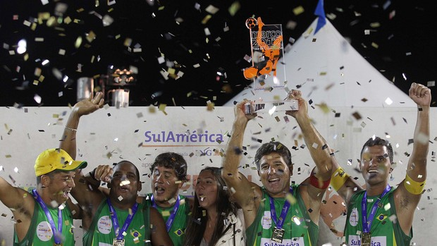 Brasil mundial Futvôlei (Foto: Fernando Soutello / AGIF)