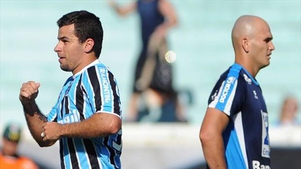 andré lima gol grêmio novo hamburgo gauchão (Foto: Edu Andrade/Grêmio FBPA)