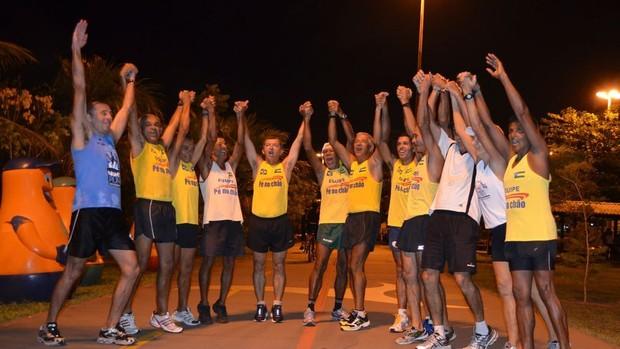 Equipe de atletismo Pé no Chão, Aracaju (Foto: João Áquila/GLOBOESPORTE.COM)