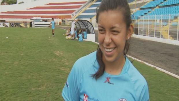 Yoreli Rincon, jogadora da seleção colombiana e do XV de Piracicaba (Foto: Bernardo Medeiros/ Globoesporte.com)
