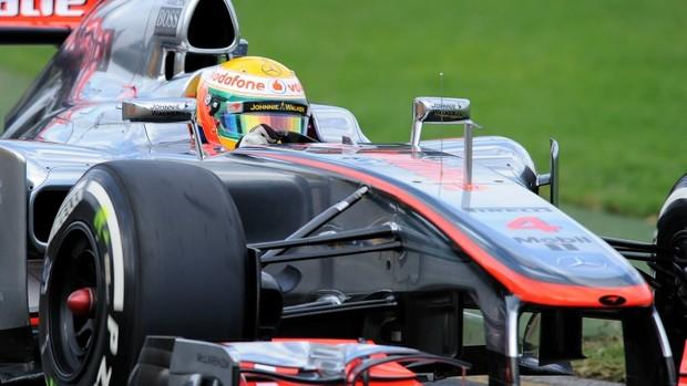 Hamilton foi o mais rápido (Foto: AFP)