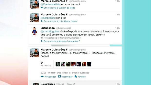 Presidente do Bahia ironiza Justiça no Twitter (Foto: Reprodução/Twitter)