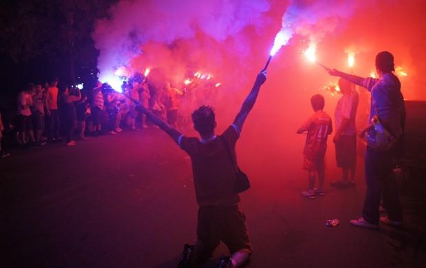 Ruas de fogo Inter Gramado (Foto: Diego Guichard / GLOBOESPORTE.COM)
