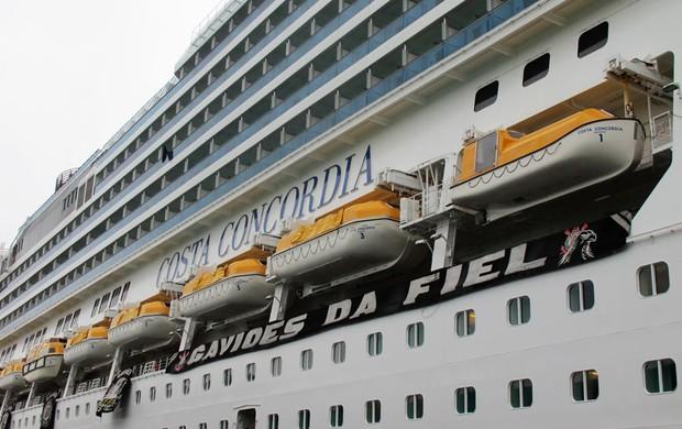 costa concordia navio corinthians (Foto: GLOBOESPORTE.COM)
