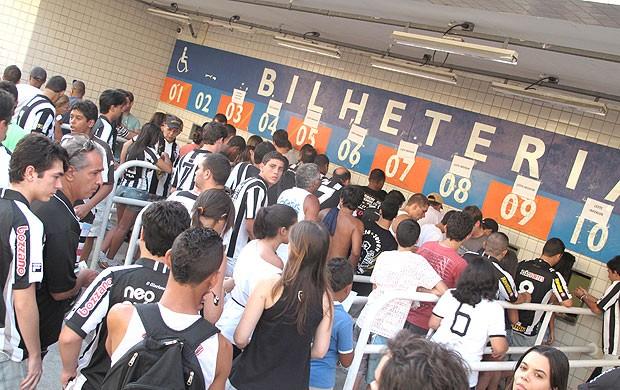 Bilheteria Botafogo x Resende (Foto: André Casado / Globoesporte.com)