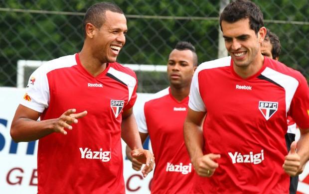Titulares do São Paulo fizeram treino físico no CT da Barra Funda (Foto: Luiz Pires / VIPCOMM)