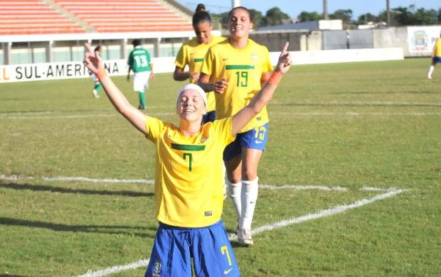Seleção Brasileira de futebol feminino Sub-20 (Foto: Divulgação)