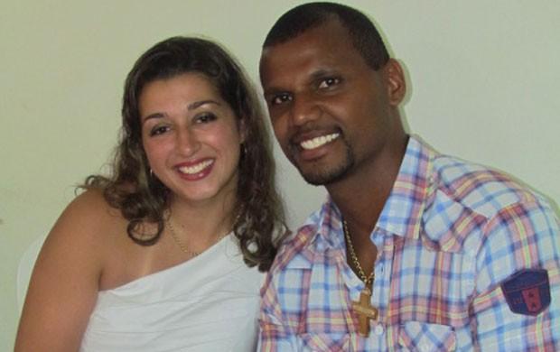 Jefferson Botafogo namorada Michele (Foto: Arquivo Pessoal)
