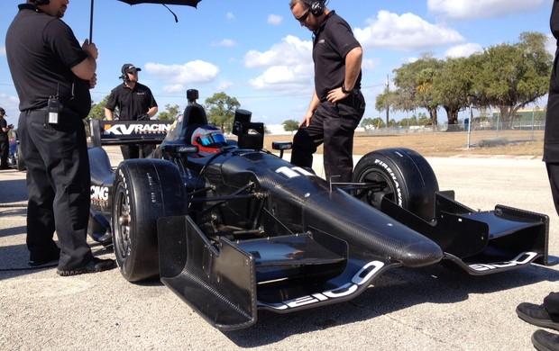 Rubens Barrichello teste Fórmula Indy (Foto: Fernando Mendes/Mpteam)