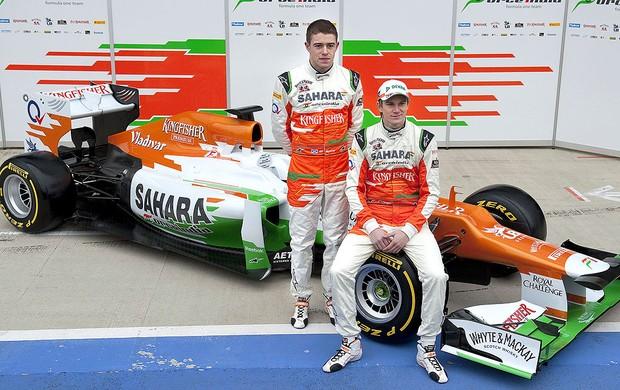 apresentação do carro da Force India para 2012 (Foto: AFP)