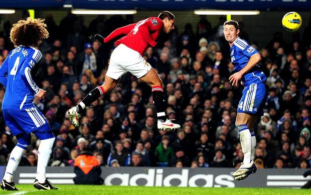 Javier Hernandez  Chicharito marca gol de empate do Manchester United com Chelsea (Foto: Getty Images)