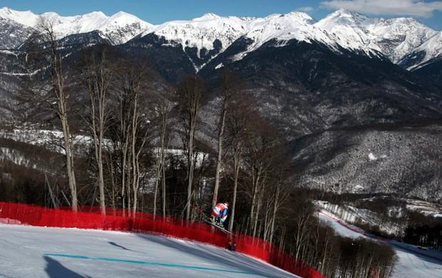 esqui Didier Cuche Copa do Mundo de Sochi (Foto: AP)