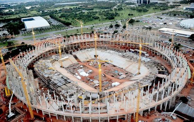 obras no estádio Nacional de Brasília, Mané Garrincha para a Copa 2014 (Foto: Divulgação)