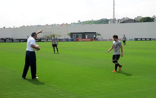 tite willian corinthians treino (Foto: Marcelo Hazan / Globoesporte.com)
