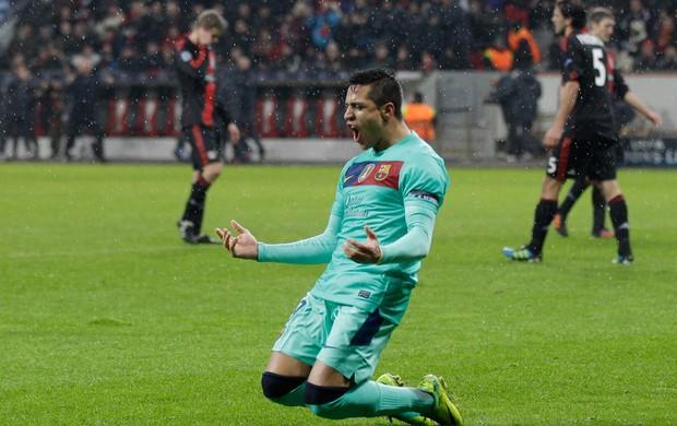 Alexis Sanchez gol Barcelona (Foto: AP)