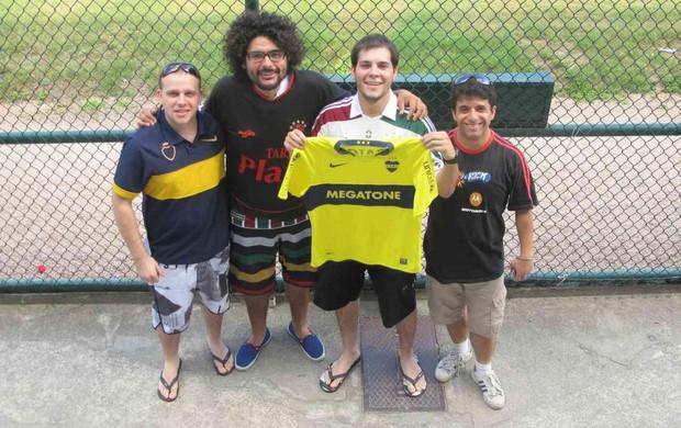 torcedores boca juniors laranjeiras (Foto: Edgard Maciel de Sá / Globoesporte.com)
