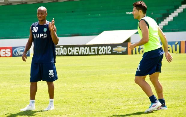 Domingos e André Leone treinam no Guarani (Foto: Rodrigo Gianesi/Globoesporte.com)