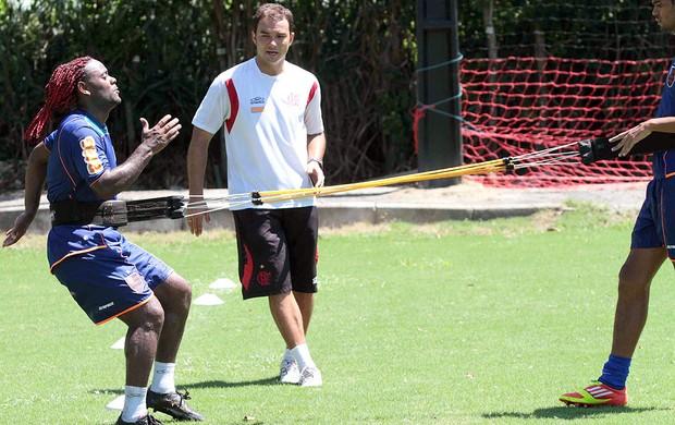 Vagner Love no treino do Flamengo (Foto: Fernando Azevedo / FlaImagem)