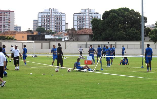 jogadores botafogo treino (Foto: André Casado / Globoesporte.com)