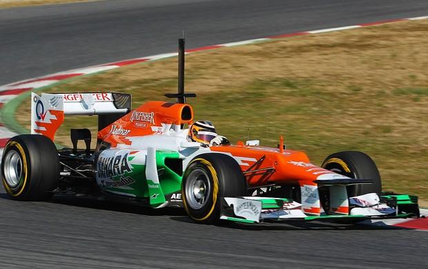 Nico Hulkenberg Force India teste Barcelona (Foto: Getty Images)
