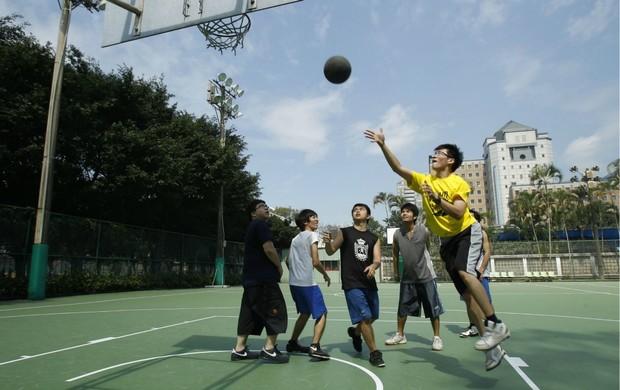 Basquete NBA quadra em Taiwan (Foto: AP)