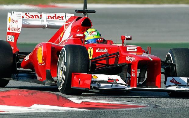 Felipe Massa no teste da Ferrari em Barcelona (Foto: Reuters)