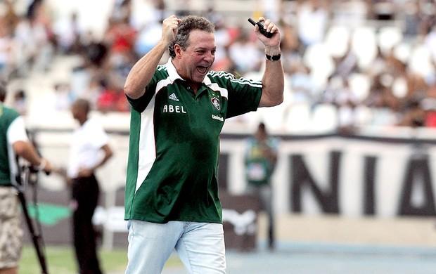 Abel braga fluminense comemora gol vasco (Foto: andré Durão / Globoesporte.com)