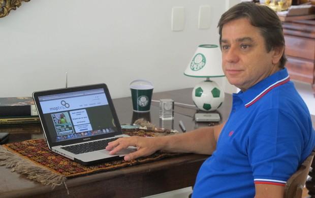 Arnaldo Tirone presedente Palmeiras (Foto: Carlos Augusto Ferrari / Globoesporte.com)