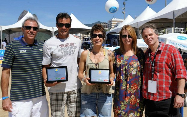 Vôlei Franco e Adriana Behar recebem homenagem no Rei da Praia (Foto: Divulgação / Maurício Kaye)