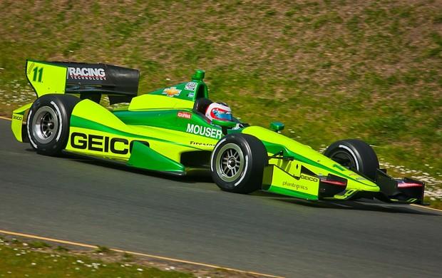 Rubens Barrichello teste Fórmula Indy Sonoma (Foto: Divulgação/KV Racing)
