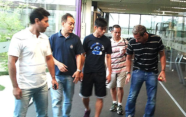 Chen Zhizhao no CT do Corinthians (Foto: Divulgação)