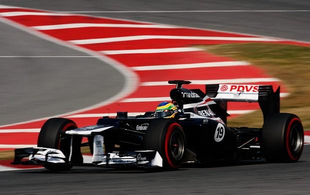 Bruno Senna Barcelona Williams testes (Foto: Getty Images)