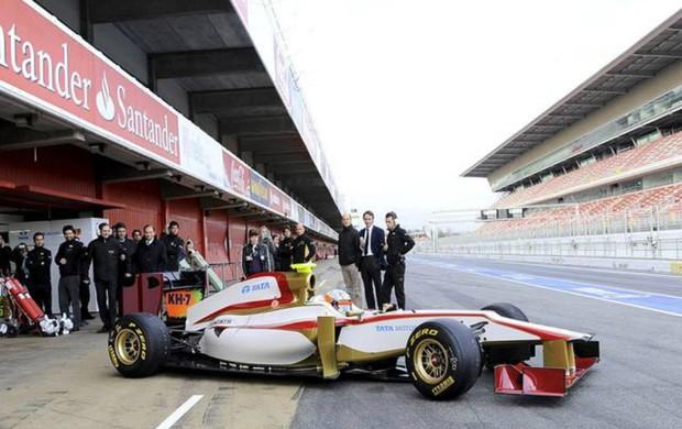 Fórmula 1 HRT lançamento do carro (Foto: Divulgação / HRT)