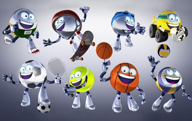Globolinha vence eleição e é o nome do novo mascote do esporte da TV Globo (Editoria de arte TV Globo)