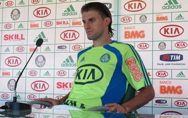 Henrique, zagueiro do Palmeiras (Foto: Daniel Romeu / Globoesporte.com)