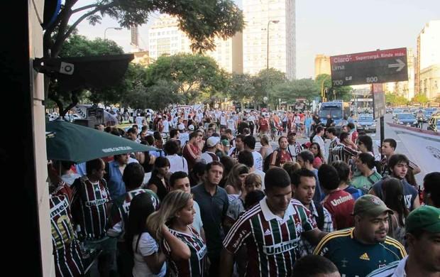 torcedores fluminense buenos aires (Foto: Edgard Maciel de Sá / Globoesporte.com)