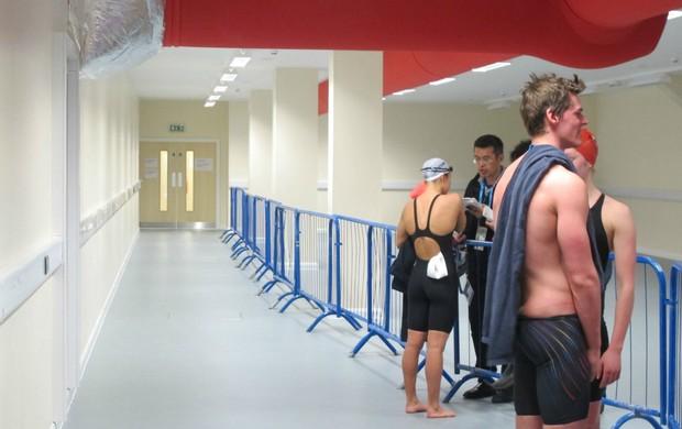 Londres-2012 piscina do Centro Aquático (Foto: Cahê Mota / GLOBOESPORTE.COM)