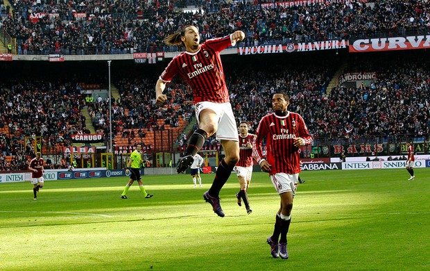 ibrahimovic milan gol lecce (Foto: Ag&#234;ncia AP)