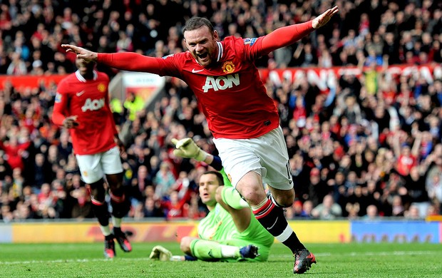 wayne rooney manchester united gol west Bromwich (Foto: Agência Getty Images)